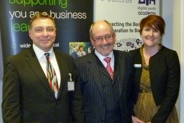 Peter Parkes (IoD), Stephen Carver and Jane Horridge (MKC)